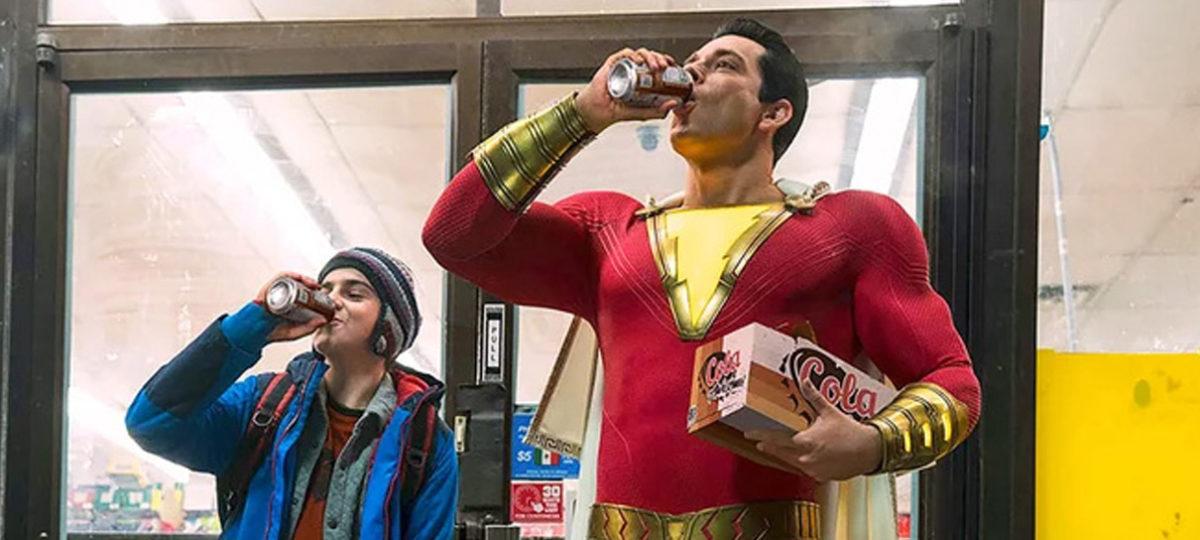 cena do filme Shazam DC