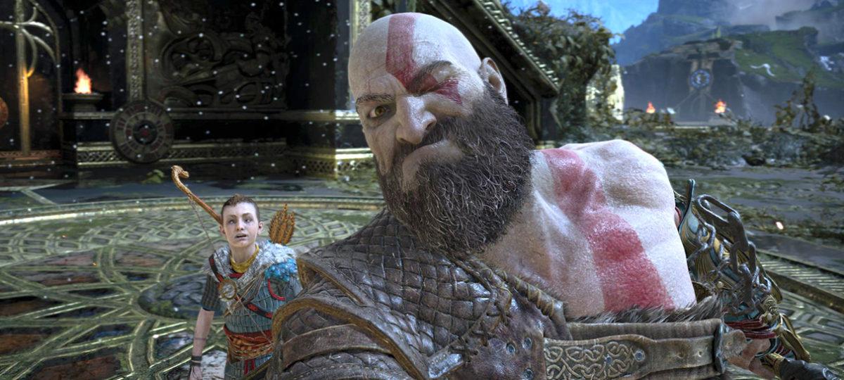 God of War IV selfie Kratos e filho