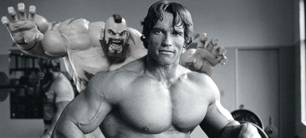 Arnold Schwarzenegger atacado pelo Zangief MRG